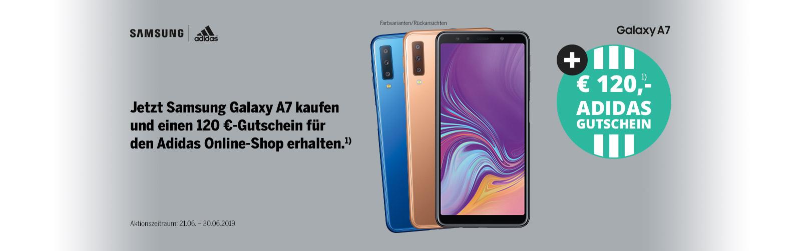 sale online purchase cheap best sell Samsung Galaxy A7 + adidas Gutschein | Medimax